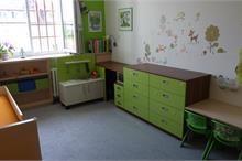 Dětský pokoj limetka-stůl a stoleček
