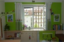 Dětský pokoj limetka-dřevěná mříž