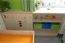 Dětský pokoj limetka-prostor pro hračky