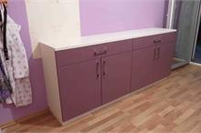Dívčí pokoj - fialová a bílá komoda