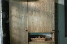 Úložná skříň do koupelny - čelní pohled