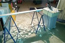 Výroba plotových dílců - odpad